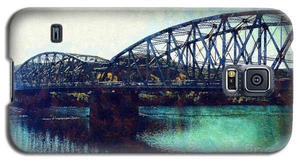 Galaxy S5 Case featuring the photograph Mid-delaware River Bridge by Janine Riley