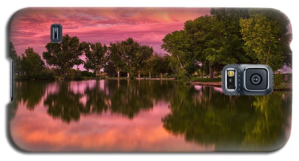 Mid Summers Sunset Galaxy S5 Case