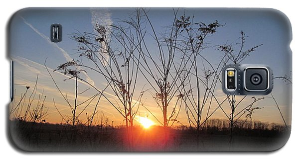 Middle Of The Field Sunrise Galaxy S5 Case by Tina M Wenger
