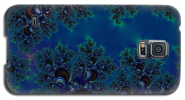 Midnight Blue Frost Crystals Fractal Galaxy S5 Case