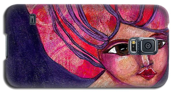 Galaxy S5 Case featuring the mixed media Midnight Dreamer by Lisa Noneman