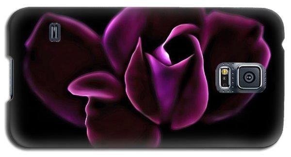 Midnight Knockout Rose Galaxy S5 Case by Walt Foegelle