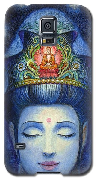 Galaxy S5 Case featuring the painting Midnight Meditation Kuan Yin by Sue Halstenberg