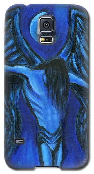 Galaxy S5 Case featuring the painting Midnight by Roz Abellera Art