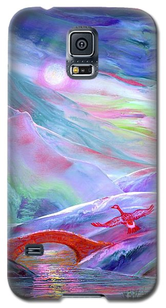 Geese Galaxy S5 Case -   Midnight Silence, Flying Goose by Jane Small