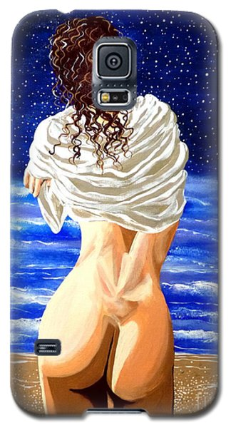 Galaxy S5 Case featuring the painting Midnight Swim by Jackie Carpenter