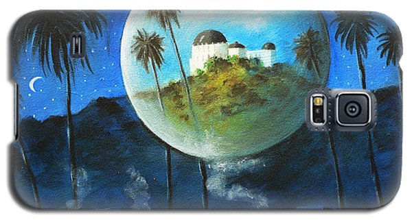 Galaxy S5 Case featuring the painting Midnights Dream In Los Feliz by S G
