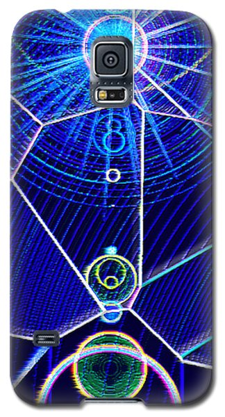 Galaxy S5 Case featuring the mixed media Midori Sunrise by Carl Hunter