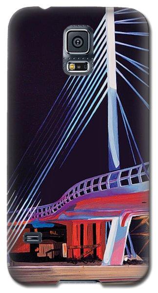 Galaxy S5 Case featuring the painting Midtown Greenway Sabo Bridge by Jude Labuszewski