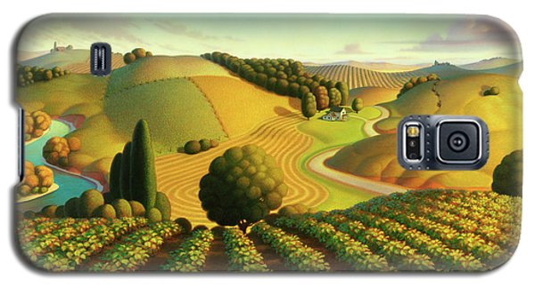Galaxy S5 Case featuring the painting Midwest Vineyard by Robin Moline