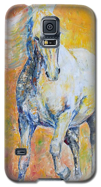 Galaxy S5 Case featuring the painting Mighty Mare by Jennifer Godshalk