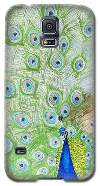 Mika And Peacock Galaxy S5 Case by Tamir Barkan