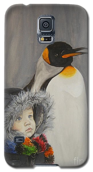 Mika And Penguin Galaxy S5 Case by Tamir Barkan