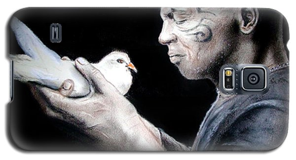 Mike Tyson And Pigeon Galaxy S5 Case by Jim Fitzpatrick