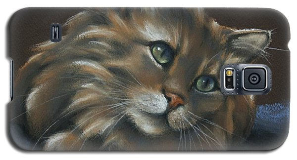 Galaxy S5 Case featuring the drawing Miko by Cynthia House