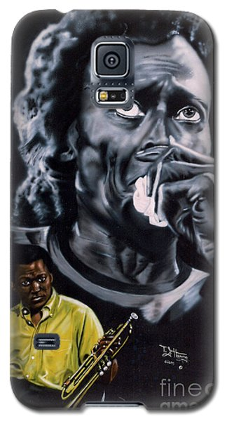Galaxy S5 Case featuring the painting More Miles Of Davis by Thomas J Herring