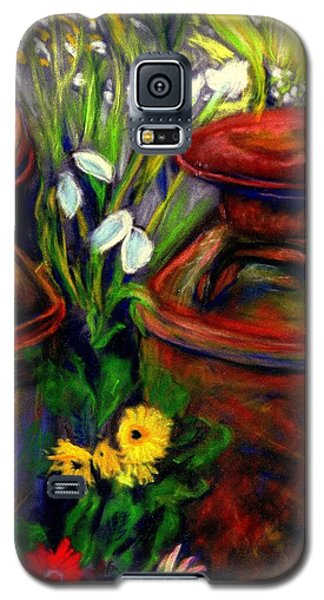 Milk Cans At Flower Show Sold Galaxy S5 Case by Antonia Citrino