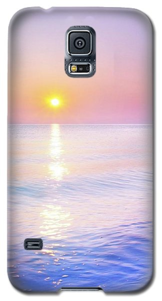 Galaxy S5 Case featuring the photograph Milky Sunset by Lilia D