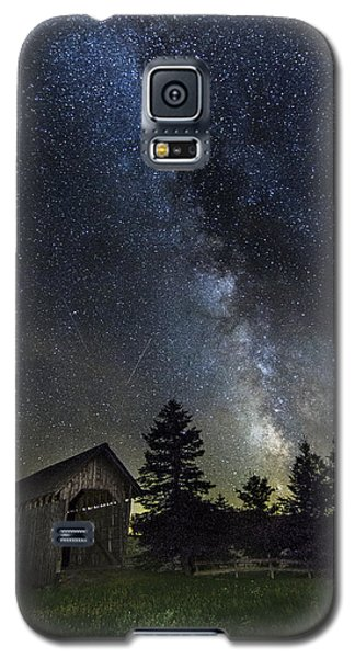 Milky Way Over Foster Covered Bridge Galaxy S5 Case