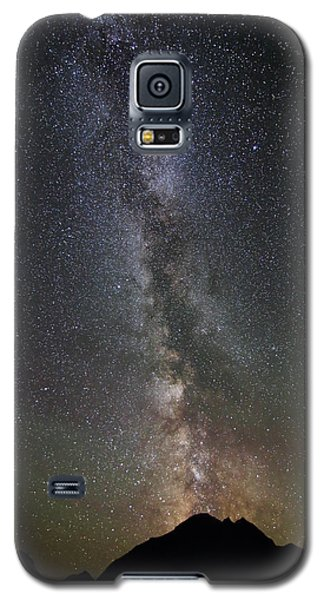 Milky Way Over Mount Logan In Glacier National Park Galaxy S5 Case