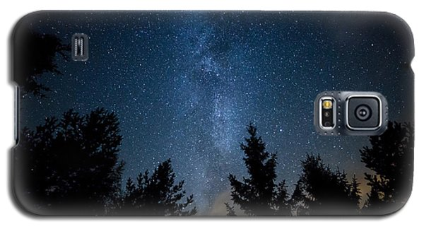 Milky Way Over The Forest Galaxy S5 Case
