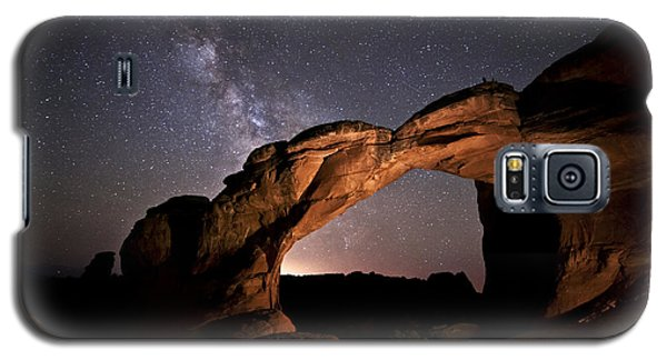 Milkyway Over Broken Arch Galaxy S5 Case by Melany Sarafis