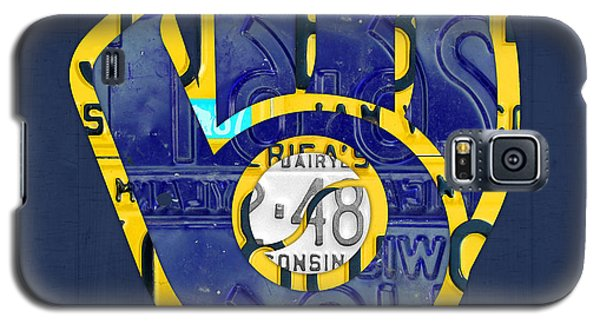 Milwaukee Brewers Vintage Baseball Team Logo Recycled Wisconsin License Plate Art Galaxy S5 Case