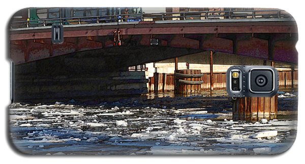 Galaxy S5 Case featuring the digital art Milwaukee River - Winter 2014 by David Blank