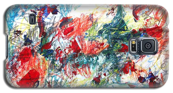 Galaxy S5 Case featuring the painting Mind Games by Esther Newman-Cohen