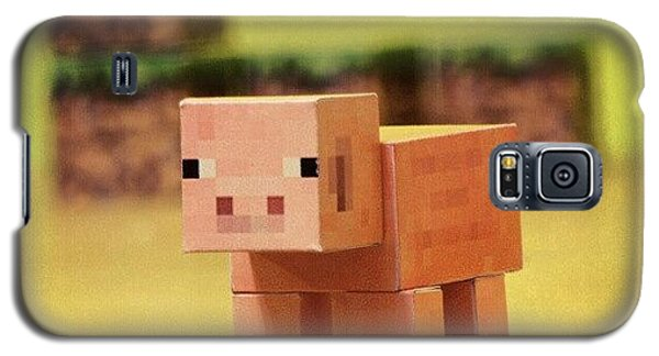 Nerd Galaxy S5 Case - #minecraft #pig #piggy #paper #papercut by Mato Mato