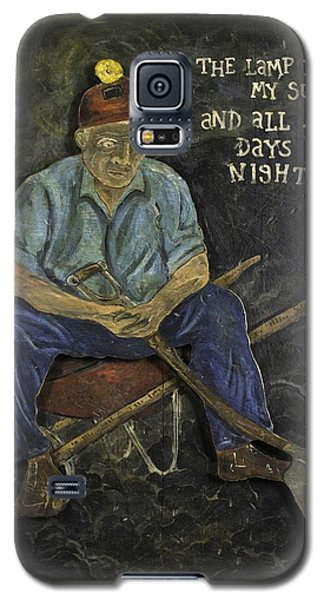 Miner - Lamp Is My Sun Galaxy S5 Case by Eric Cunningham