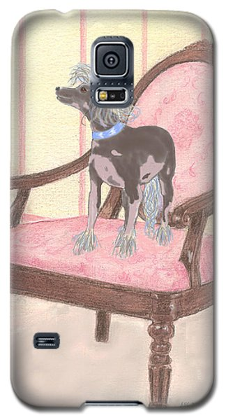 Galaxy S5 Case featuring the mixed media Ming by Stephanie Grant