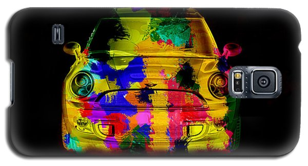 Mini Cooper Colorful Abstract On Black Galaxy S5 Case by Eti Reid
