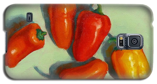 Galaxy S5 Case featuring the painting Mini Peppers Study 1 by Margaret Stockdale