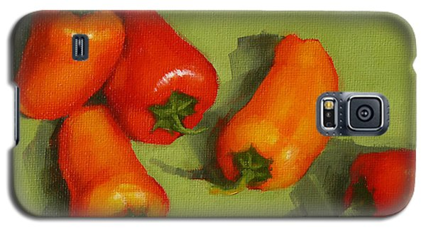 Galaxy S5 Case featuring the painting Mini Peppers Study 2 by Margaret Stockdale