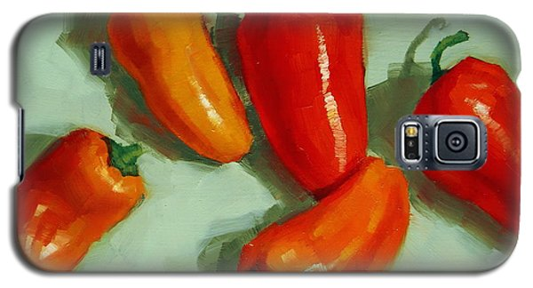 Mini Peppers Study 3 Galaxy S5 Case by Margaret Stockdale
