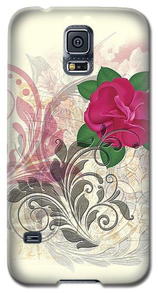 Mini Rose Flourish Galaxy S5 Case