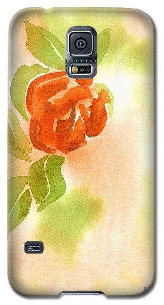 Galaxy S5 Case featuring the painting Miniature Red Rose II by Kip DeVore