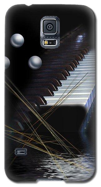 Galaxy S5 Case featuring the digital art Minimalism Piano by Angel Jesus De la Fuente