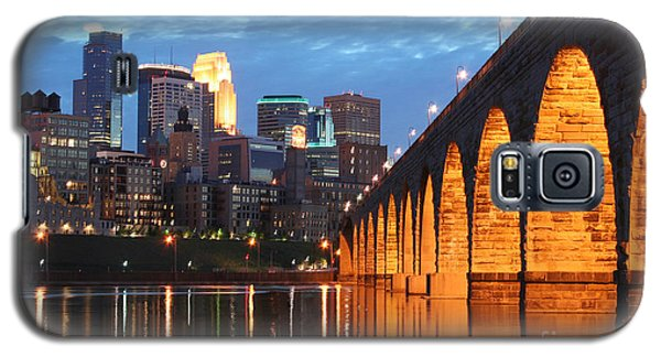 Minneapolis Skyline Photography Stone Arch Bridge Galaxy S5 Case