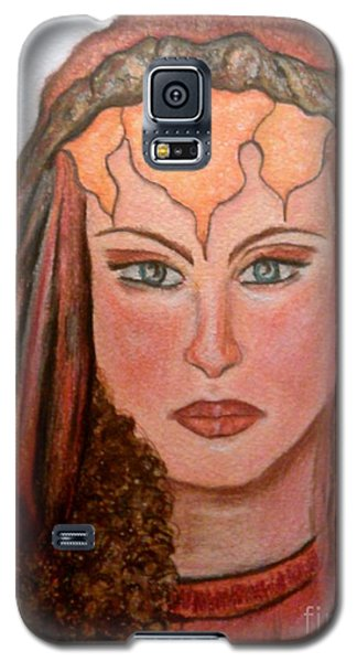 Galaxy S5 Case featuring the drawing Mirabella Wondrous Beauty by Lori  Lovetere