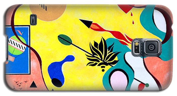 Galaxy S5 Case featuring the painting Miro Miro On The Wall by Thomas Gronowski