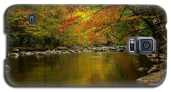 Galaxy S5 Case featuring the photograph Mirror Fall Stream In The Mountains by Debbie Green