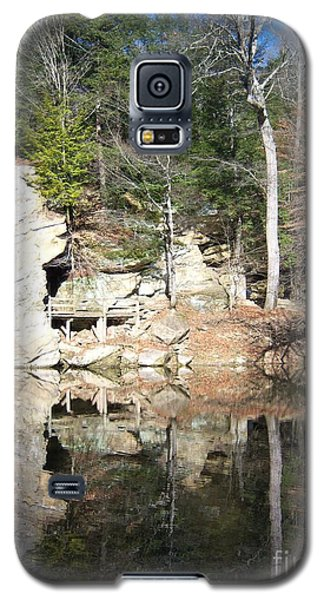 Galaxy S5 Case featuring the photograph Sugar Creek Mirror by Pamela Clements