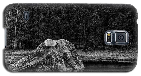 Mirror Lake Boulder Galaxy S5 Case by Terry Garvin