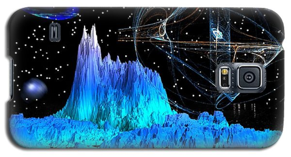 Mirrored Blue Image Galaxy S5 Case by Jacqueline Lloyd