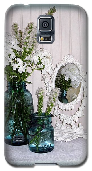 Galaxy S5 Case featuring the photograph Mirrored Bouquet 2 by Margaret Newcomb
