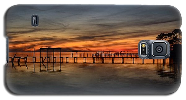 Galaxy S5 Case featuring the photograph Mirrored Sunset Colors On Santa Rosa Sound by Jeff at JSJ Photography
