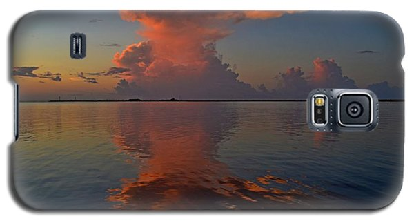 Mirrored Thunderstorm Over Navarre Beach At Sunrise On Sound Galaxy S5 Case by Jeff at JSJ Photography