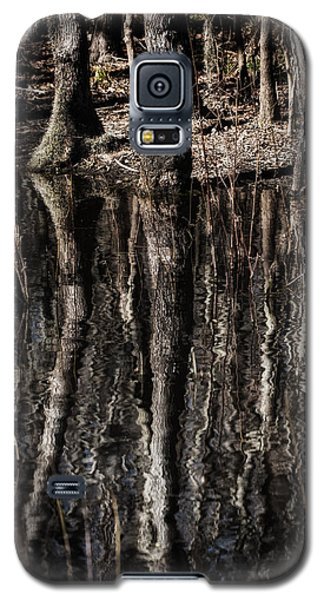 Galaxy S5 Case featuring the photograph Mirrored Trees by Zoe Ferrie